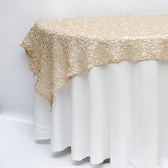 Champagne Banquet Chair Covers Wood Long Design 72 X Chemical Lace Overlay Wedding Overlays Wholesale L