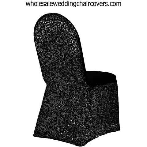 black glitter chair covers burlap dining room sequins sparkle spandex banquet cover wholesale wedding l party supplies