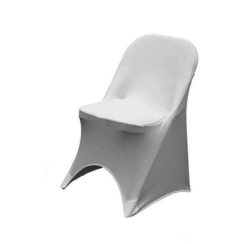 folding chair covers for wedding papasan outdoor cushion spandex stretch cover seat wholesale l party supplies