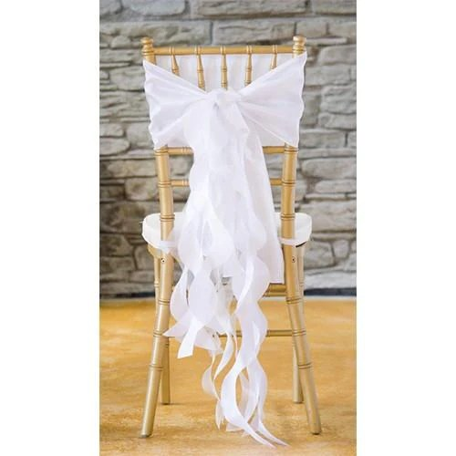 wedding chair sash pottery barn toddler curly willow covers bows wholesale l party supplies