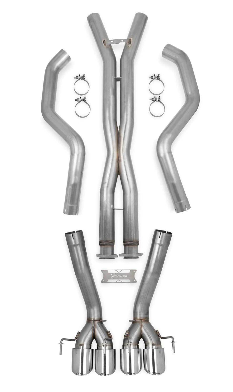c6 corvette hooker blackheart straight pipes exhaust