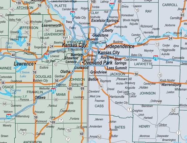 Four State Missouri Kansas Iowa Nebraska County Town