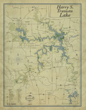 Lake Of The Ozarks Map With Cove Names : ozarks, names, Truman, Missouri, Gallup