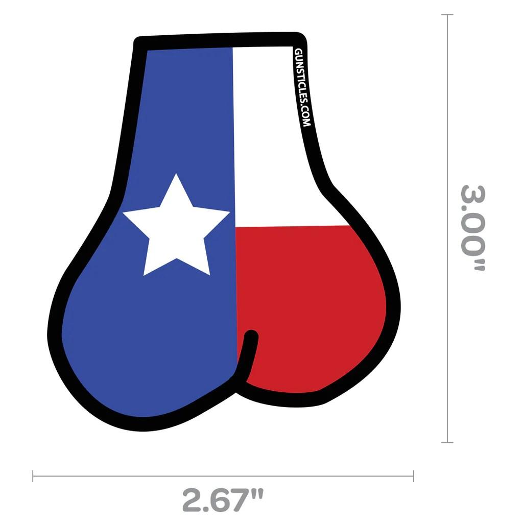Tactical Texas Balls Sticker Gunsticles