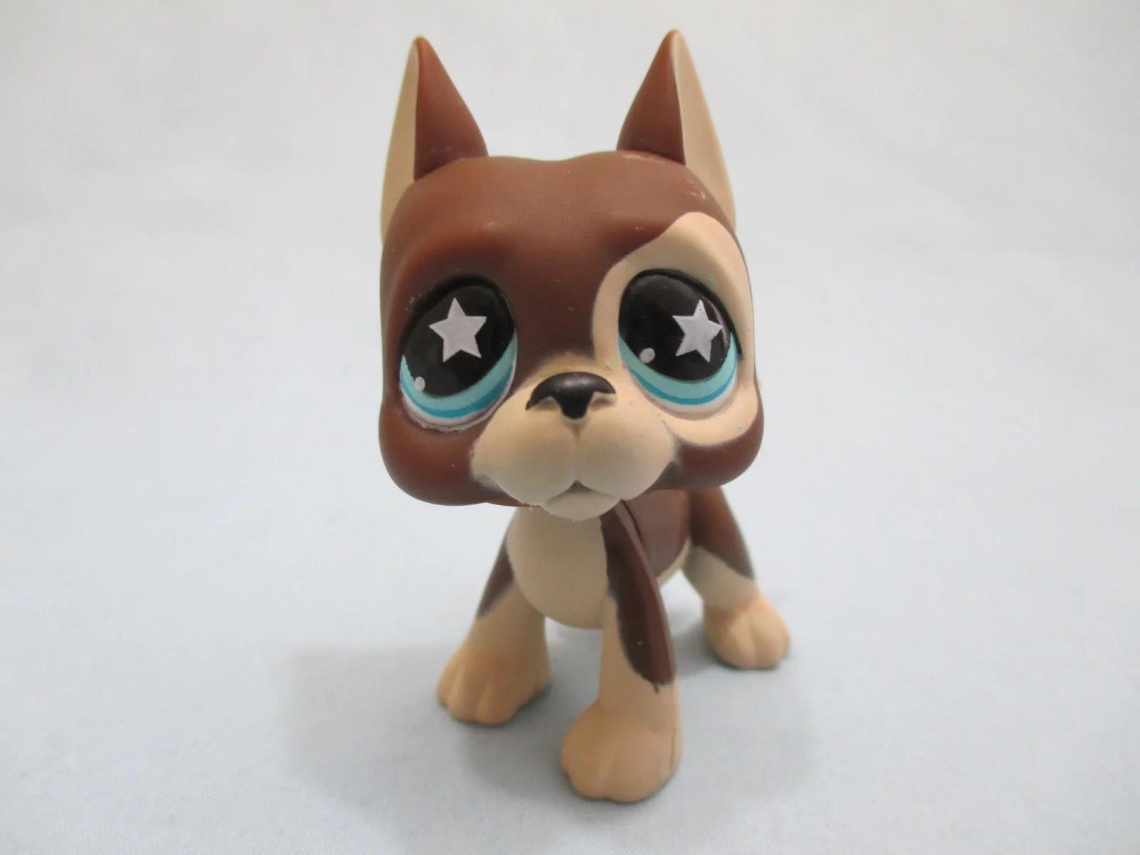 Littlest Pet Lps Great Dane Dog #817 Brown Cream With