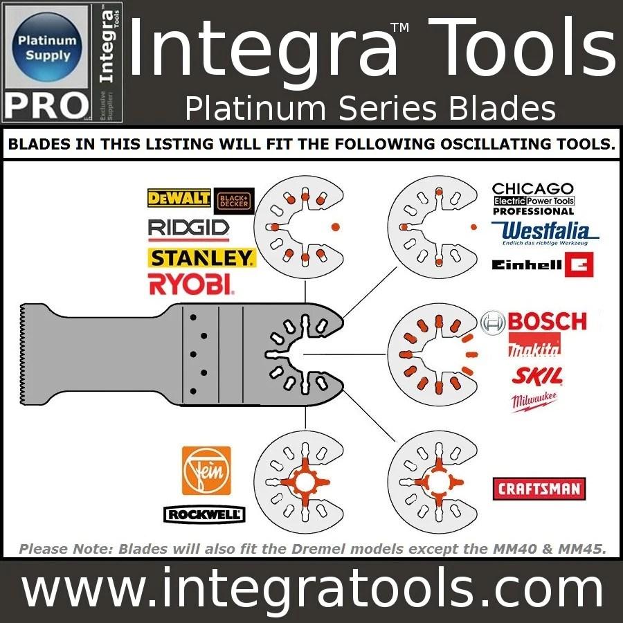 integra tools platinum blades 20 piece master tile grout kit blade pack oscillating multitool blades