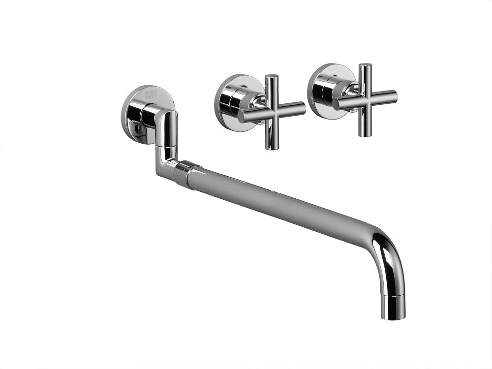 dornbracht faucet kitchen backsplash design tara 3 hole wall mount pull out trim only my cart close