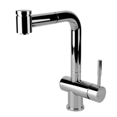 Kitchen Mixer Black Island With Seating Gessi At Montaggio Oxygene Pull Out Double Spray