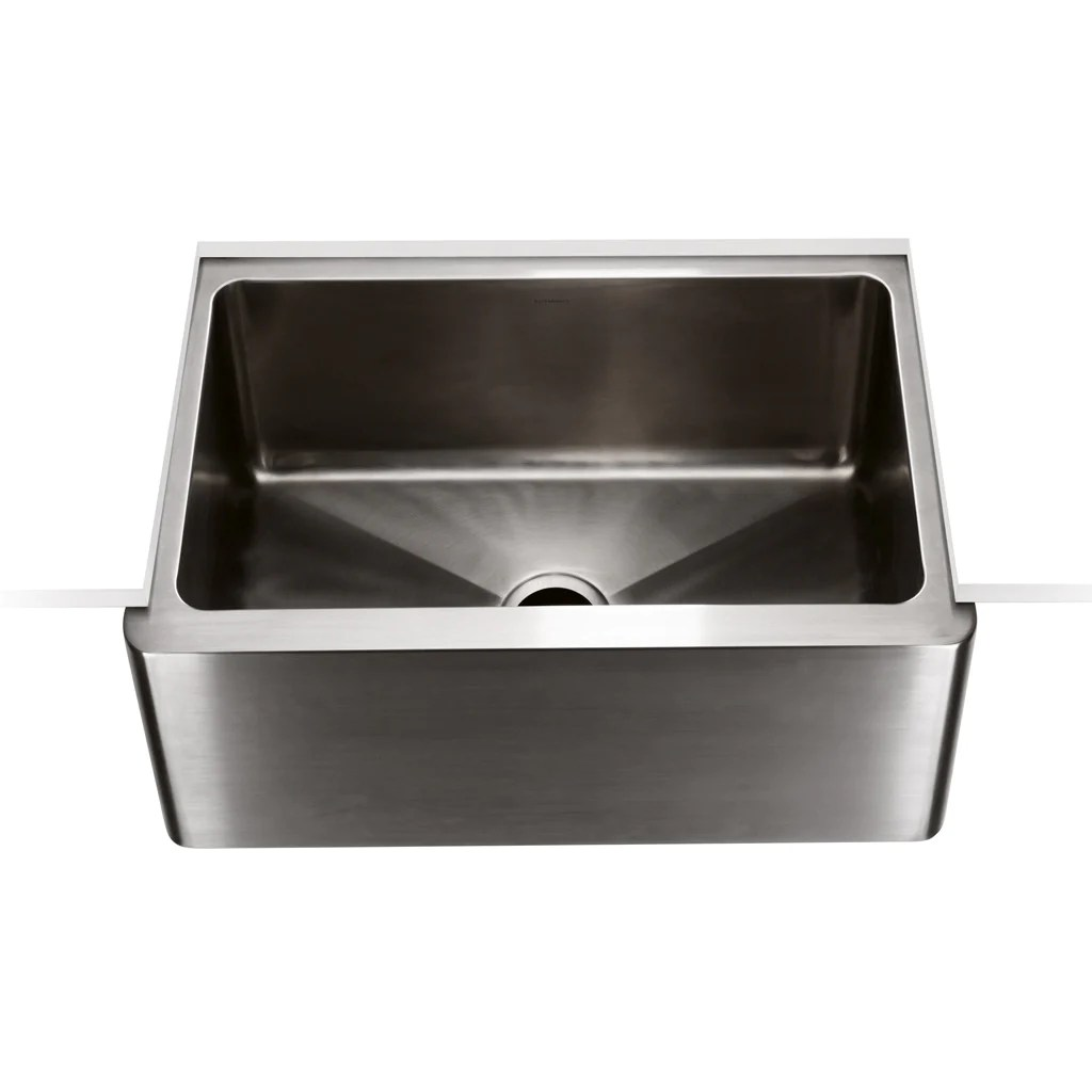 24 kitchen sink aid classic mixer kerr x 18 9 stainless steel farmhouse apron with center drain