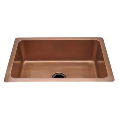 Copper Kitchen Sink Cabinets Fayetteville Nc Normandy 30 X 20 10 Hammered With Center Drain