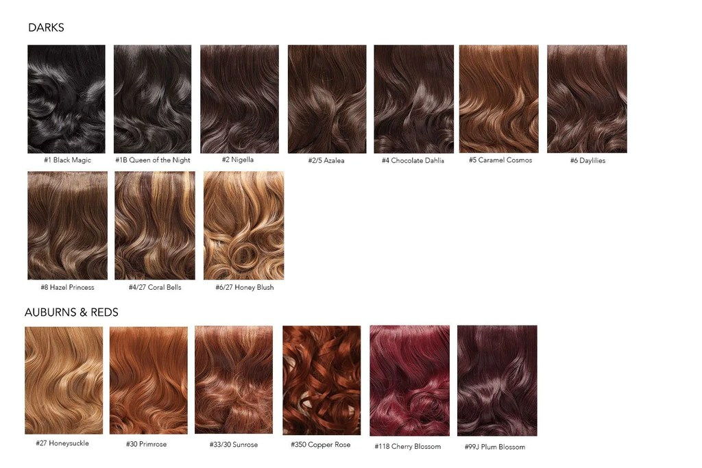 Hair extensions colour chart also everyday luxury rh strandedinternational