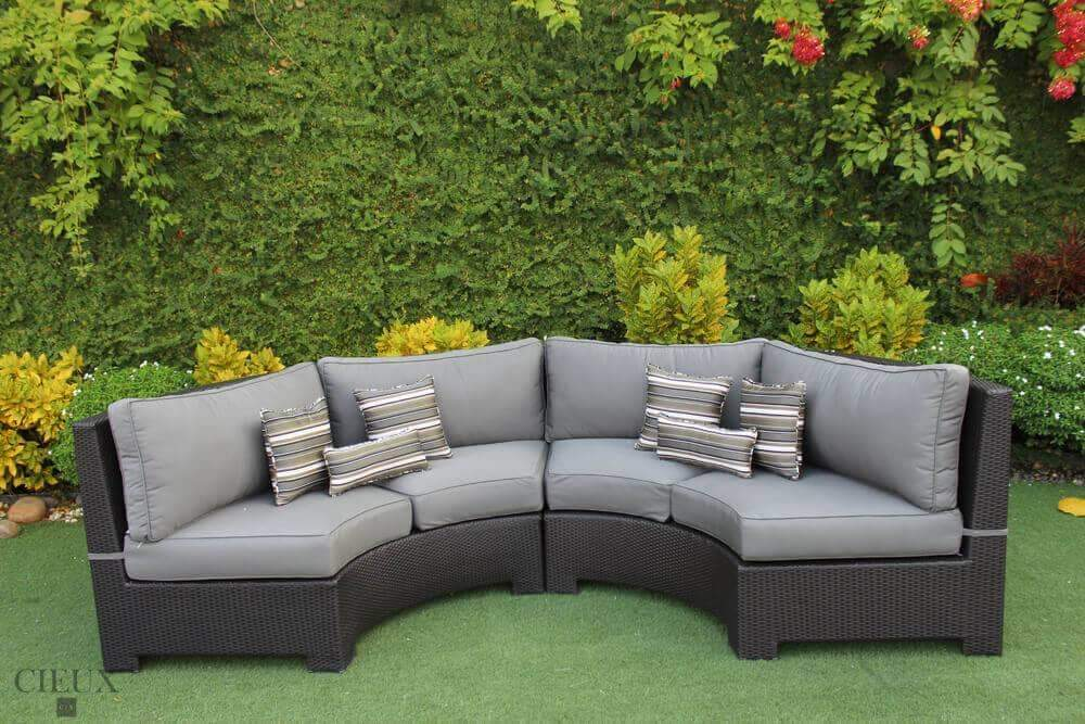 provence curved small sectional available in 3 colours