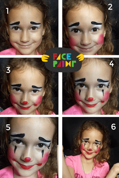 Fast and Easy Clown Ruffles Face Paint Tutorial - IT... - Facepaint.com