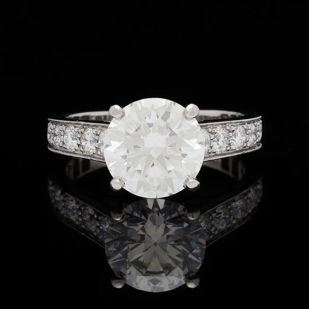 Gorgeous Cartier Diamond Engagement Ring Gia 2.41 Carats