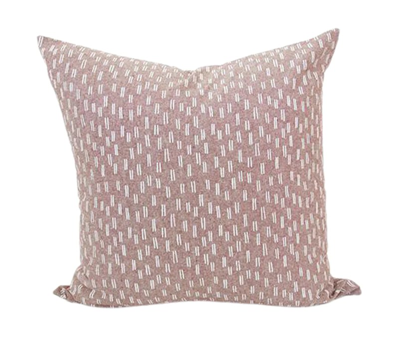 maroon white dashed accent pillow 20x20 homies