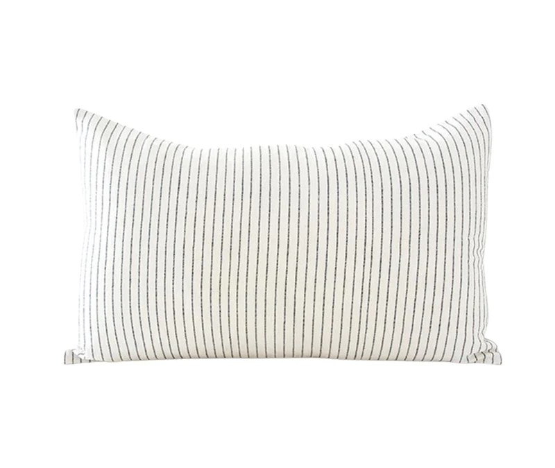 white small black stripe lumbar pillow 14x22 homies