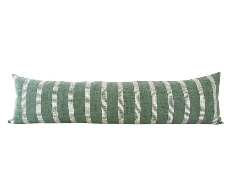 woven kale extra long lumbar pillow 14x50 homies