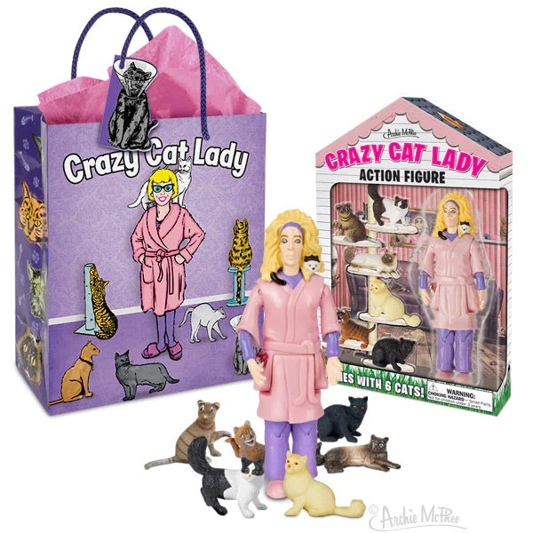 Crazy Cat Lady Action Figure Gift Set  Archie McPhee