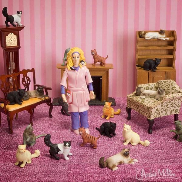 Crazy Cat Lady Action Figure  Archie McPhee  Co