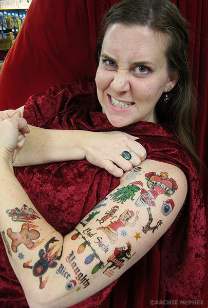 Christmas Tattoos Archie McPhee Amp Co