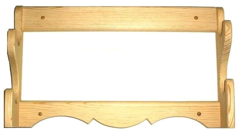 pine wooden gun rack 2 place rifle shotgun wall mount display