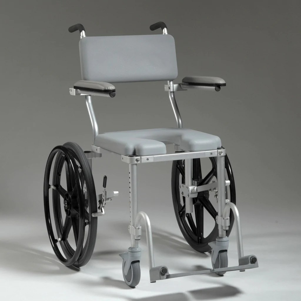 shower chair commode lawn cushion multichair 4020 rehab wheelchair by nuprodx