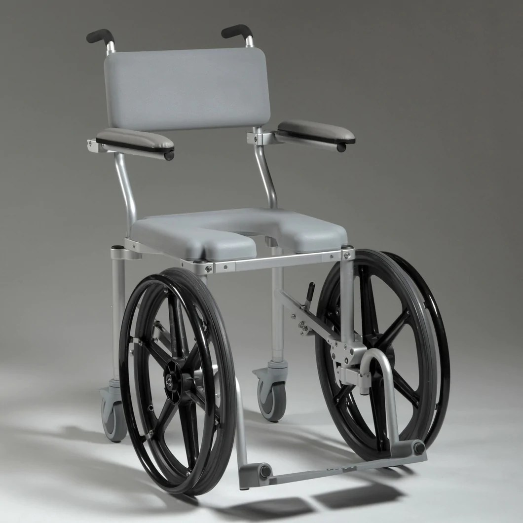 Shower Chair With Wheels Multichair 4020rx Shower And Commode Wheelchair Front