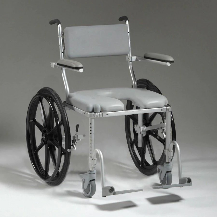 Multichair 4224 Shower  Commode Wheelchair Large Seat
