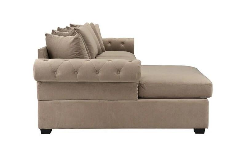 modern large tufted velvet sectional