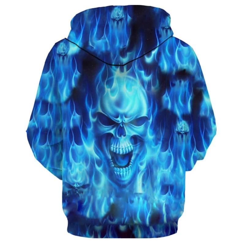 blue flame anger skull