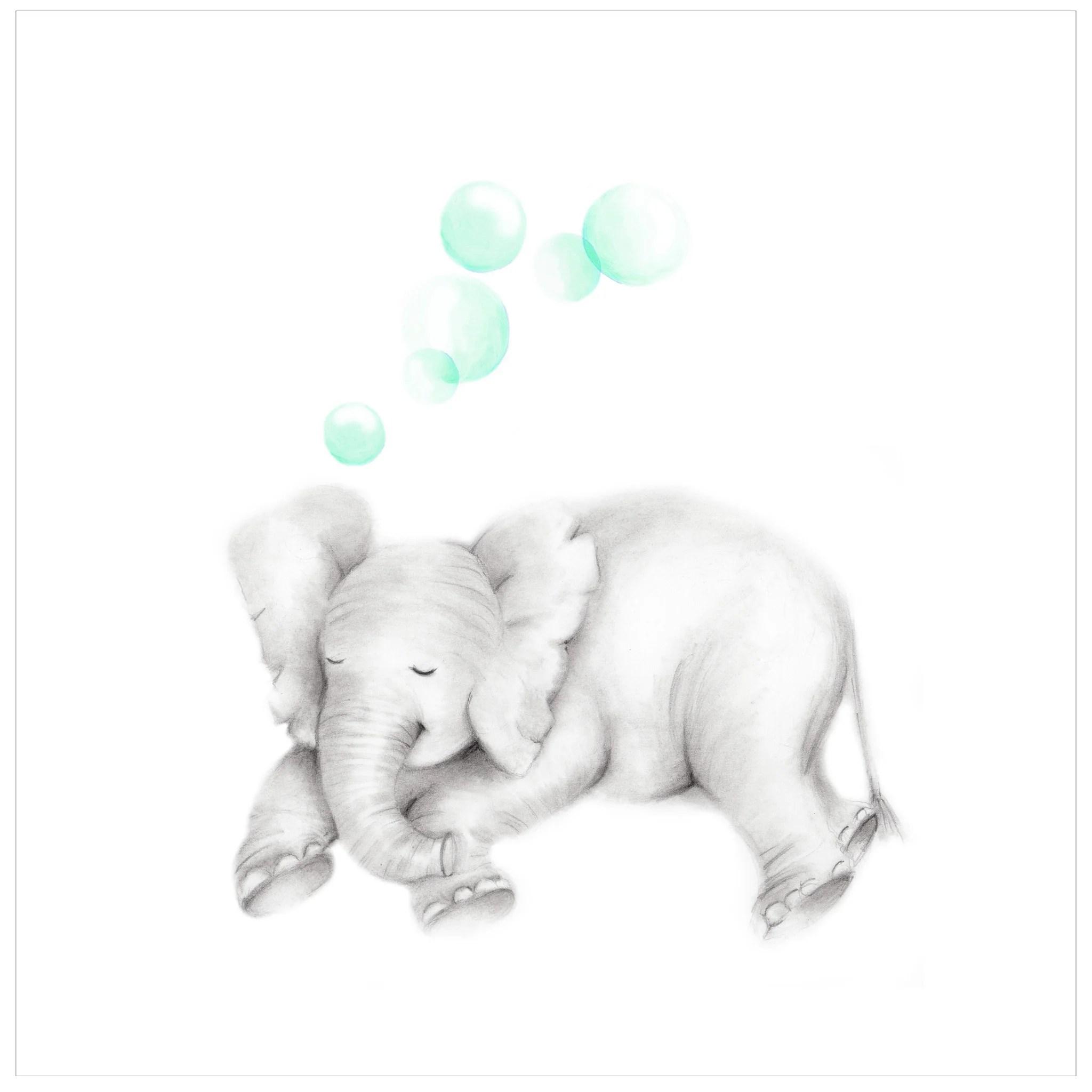 sleepy baby elephant with