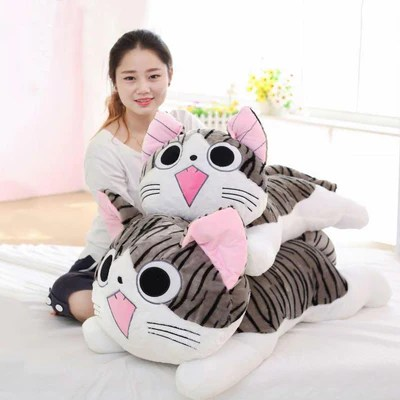 sweet huggable cat plush toys in small 100cm life size