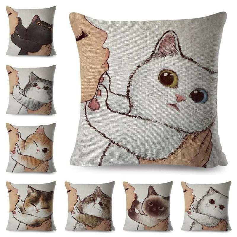 comfort cat shaped pillows and cases