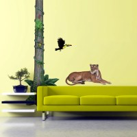 Giant Rainforest Tree Wall Sticker for themed walls and murals