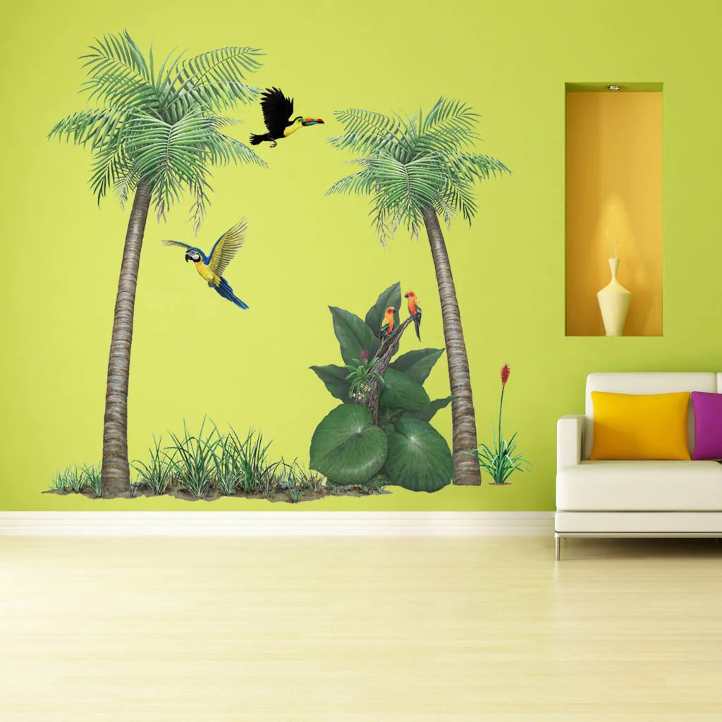 Rainforest Wall Decals - rainforest harmony mural chris hiett murals ...