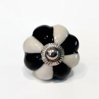 Black and White Porcelain Cabinet Knobs Dresser Drawer ...