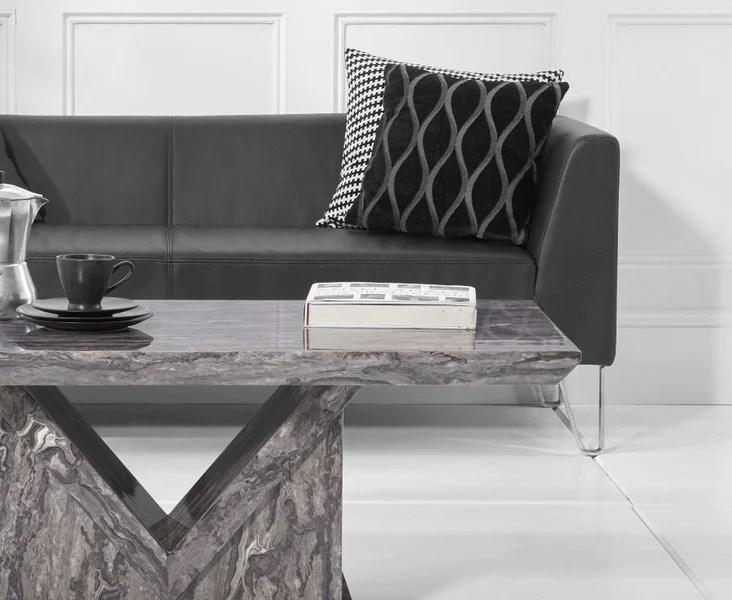 minsk grey marble coffee table