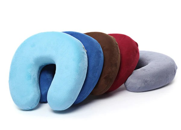 UShaped Memory Foam Travel Neck Pillow  Freedom Travel Gear
