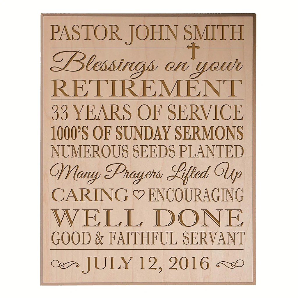 personalized retirement gift plaque