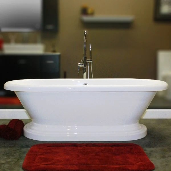 Cambridge Plumbing Acrylic Double Ended Pedestal Bathtub
