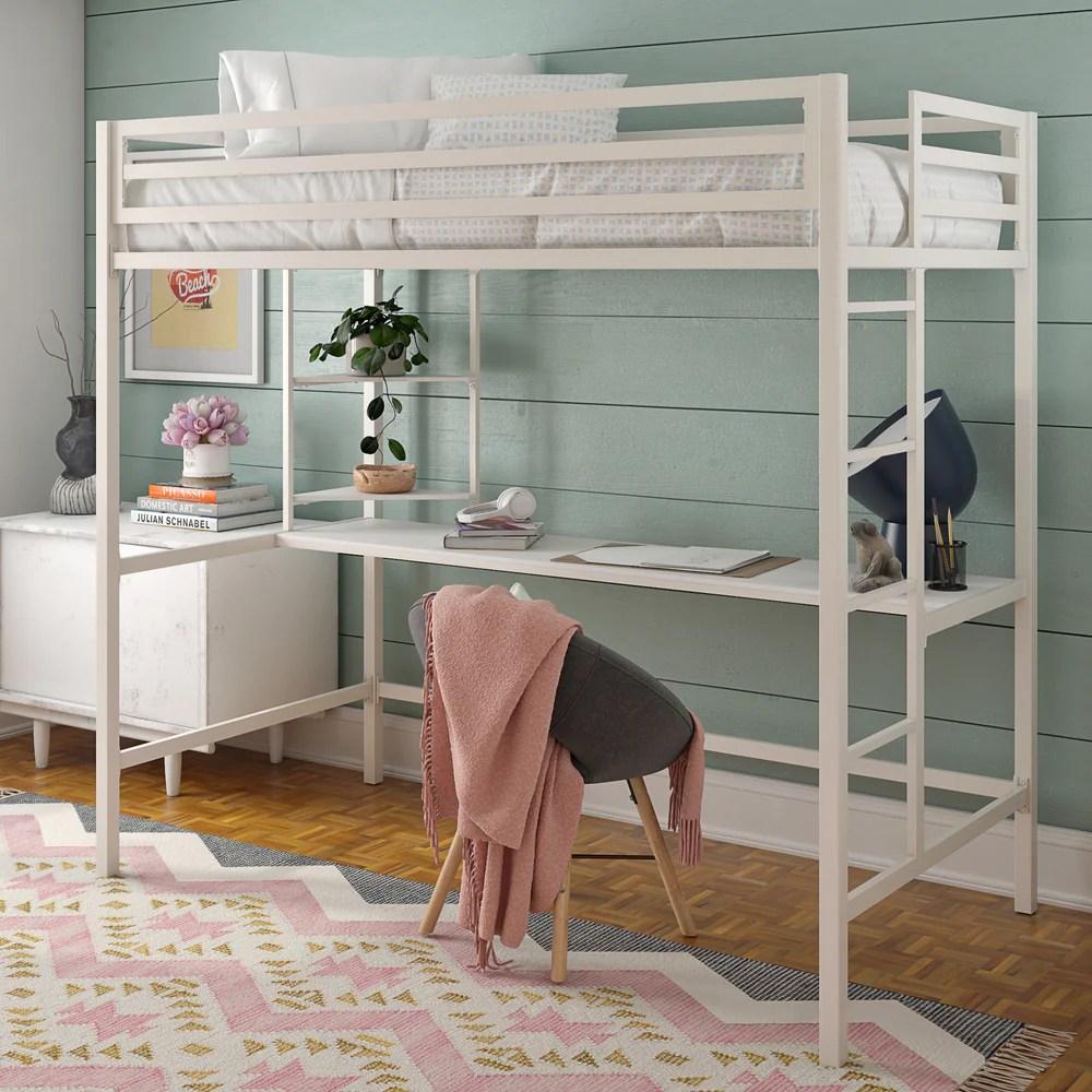 maxwell loft bed with desk the novogratz