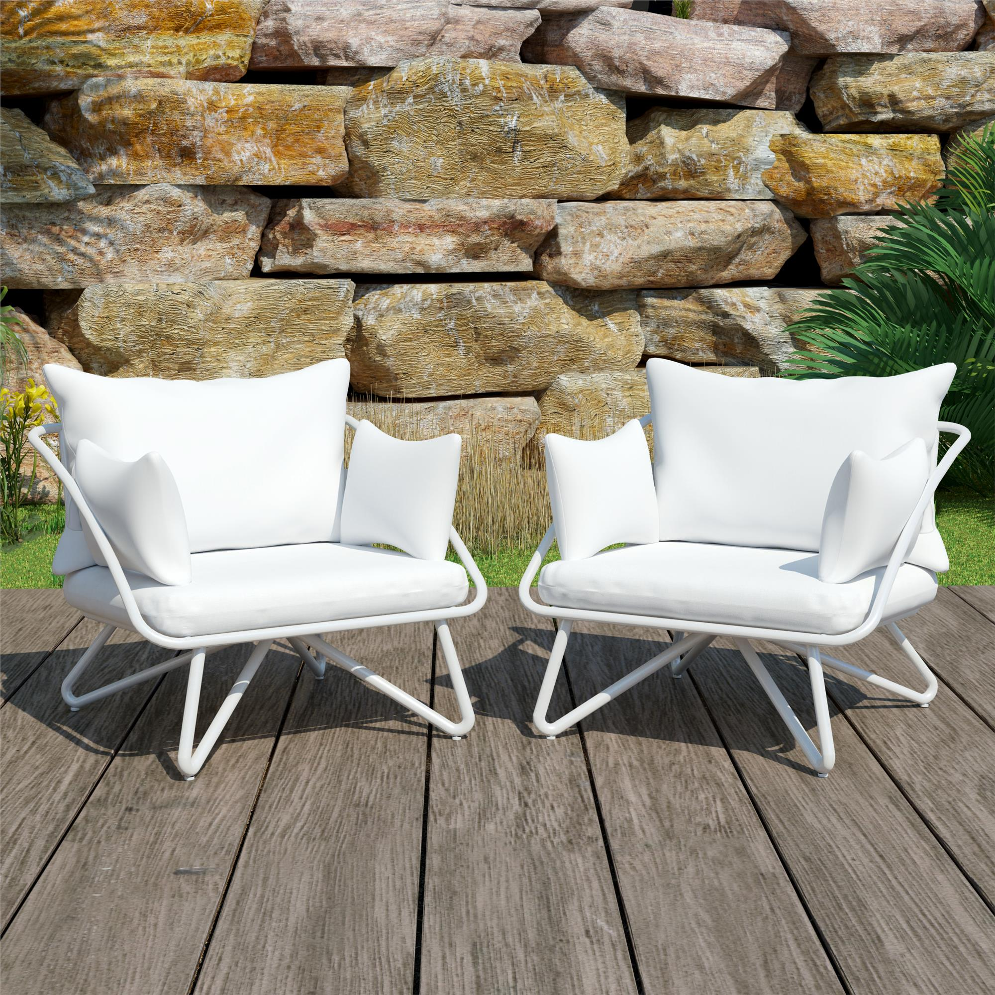 Outdoor Chair Set Teddi Outdoor Lounge Chairs Set Of 2