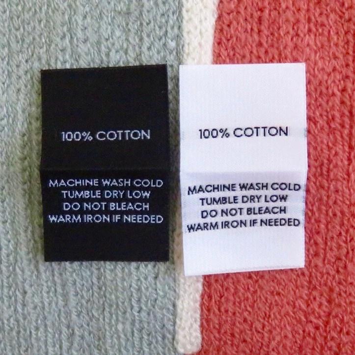 100 cotton garment care