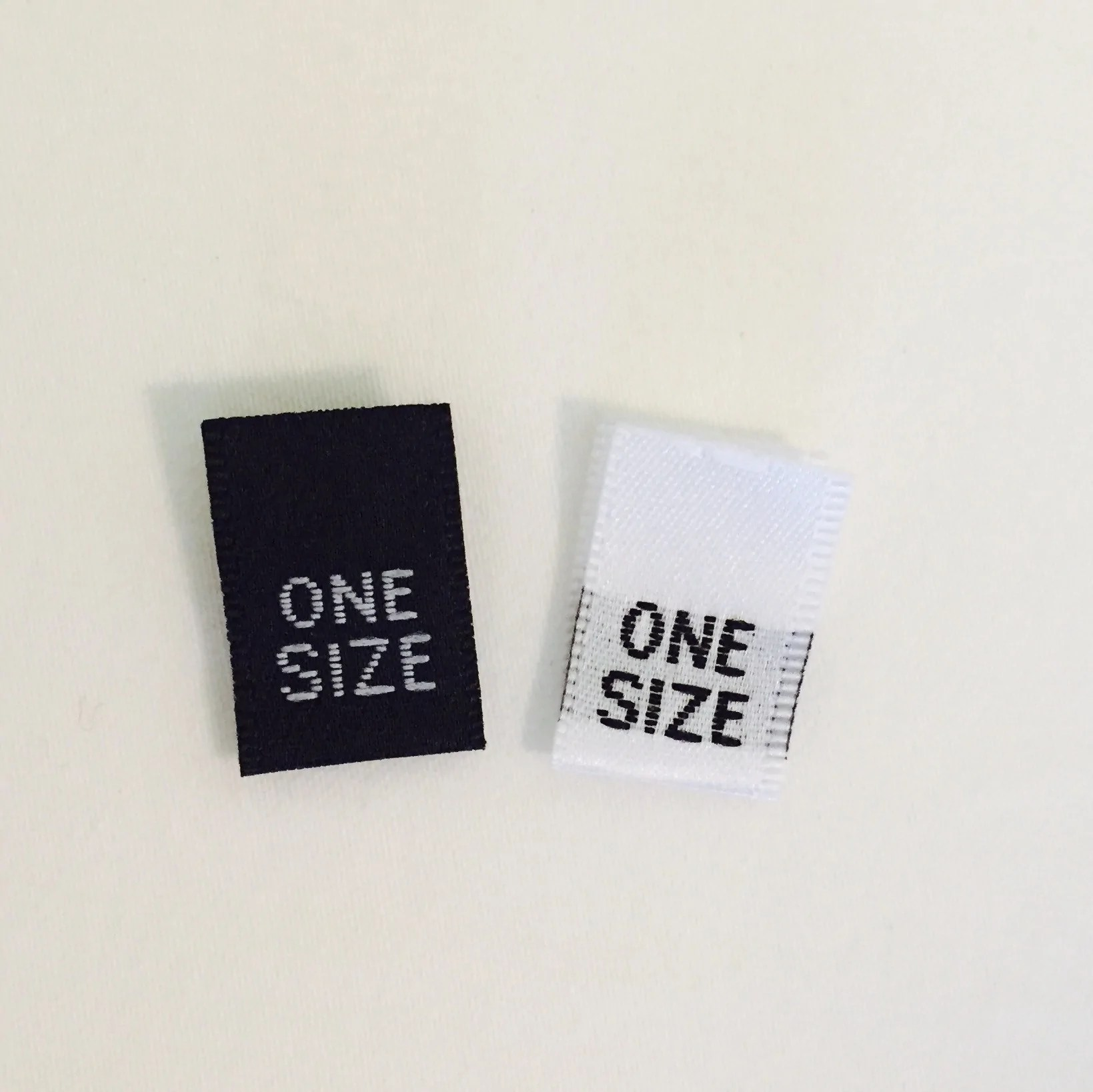 one size clothing labels