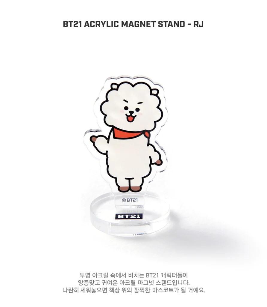 Adventure Time Anime Wallpaper Bt21 Acrylic Magnet Stand Rj Harumio