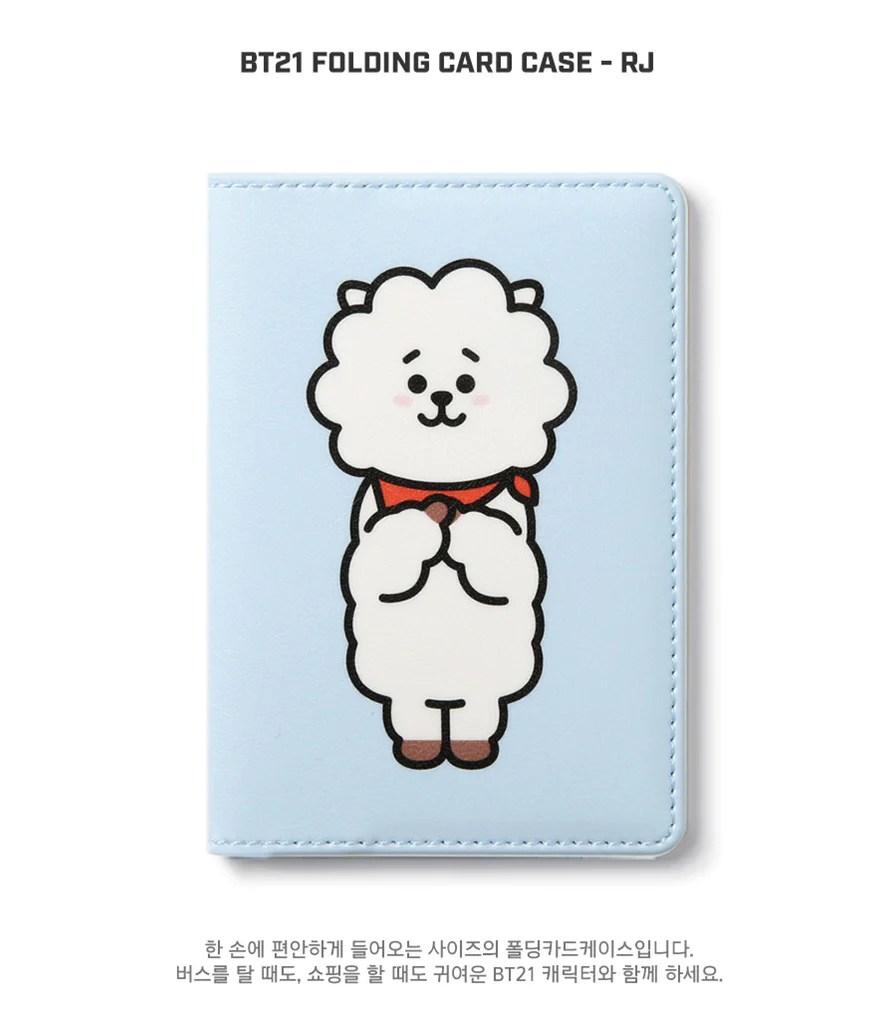 Cute Wallpaper Korean Bt21 Folding Card Case Rj Harumio