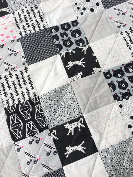 Black And White Quilt : black, white, quilt, Pattern:, Super, Black, White, Quilt!, Brooklyn, Craft, Company