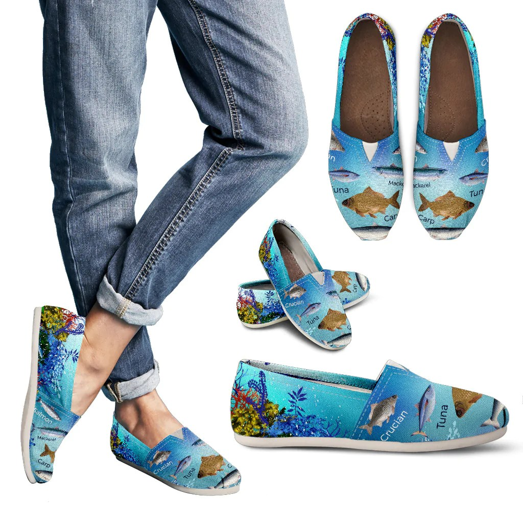 hight resolution of fish diagram casual shoes