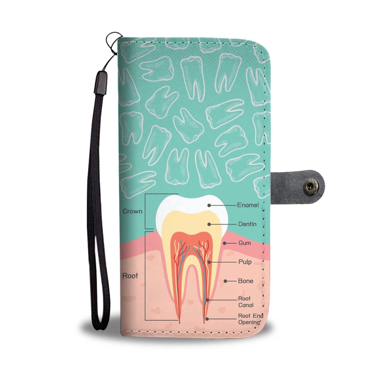 dentist diagram wallet phone case [ 1500 x 1500 Pixel ]
