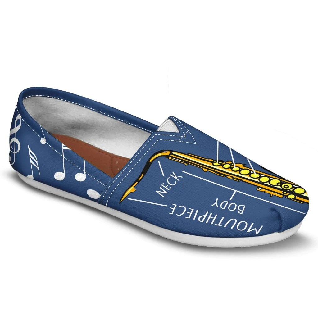saxophone diagram casual shoes [ 1024 x 1024 Pixel ]